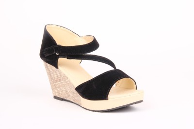 Anand Archies AA-A06 Women Black Wedges