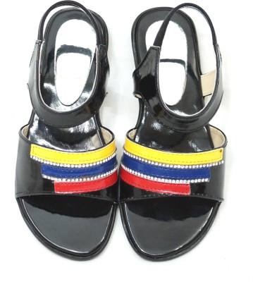 Royal Indian Exposures Baby Girls Black Sandals