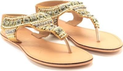 Catwalk Women Beige, Gold Flats