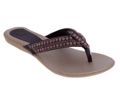 Dutch Benson Women Black Sandals