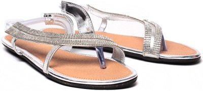 Ruby Stylish Women Silver Flats