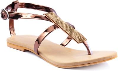 Foot Jewel Women Brown Flats
