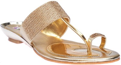 DREAM SELECTION Women Gold Wedges