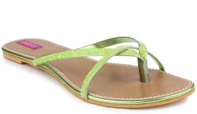 Fiorella Women Green Flats