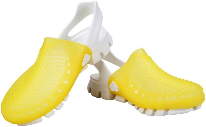 Vostro Women White, Yellow Clogs