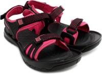 Reebok Women Black, Pink, Silver, Gravel Sports Sandals