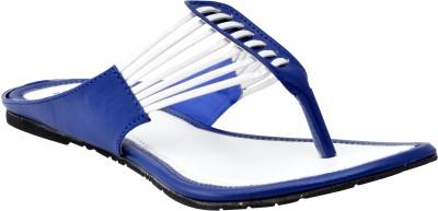 New Divas Women Blue Flats