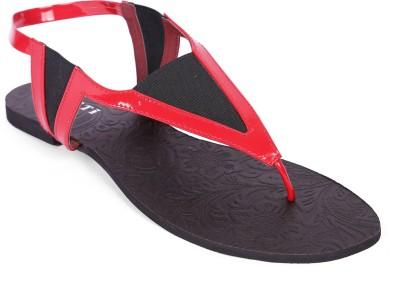 Zotti Women Red Flats