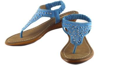 Gressum Women Blue Wedges