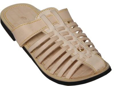 Step Zone Men Beige Sandals