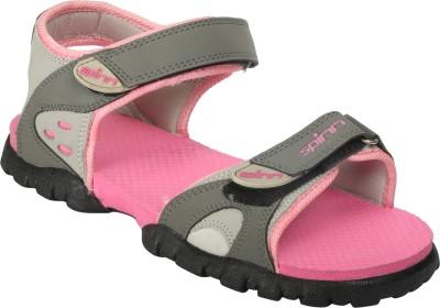 Spinn Women Pink Sports Sandals
