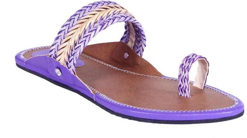 Royal Collection Women Purple Sandals