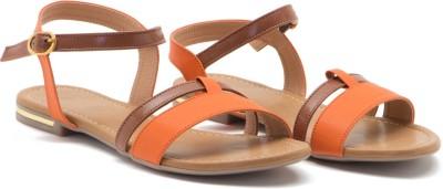 ALETA Women Orange Flats