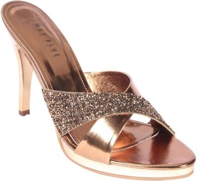 Wet Blue Women Brown Heels