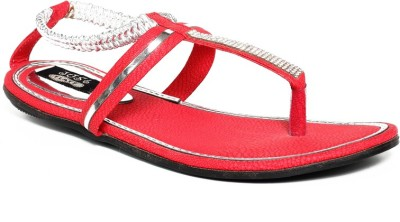 Just Flats Women Red Flats