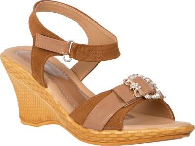 Khrav Women Brown Heels