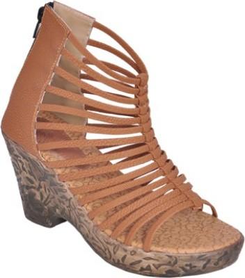 Shoe Dice Women Beige Wedges