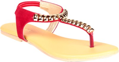 Soft & Sleek Red Sandal Girls Red Flats