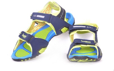 Goldstar Men Navy, Green Sandals
