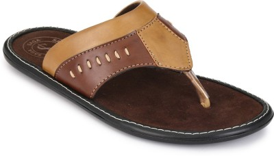 FOOTCHOLIC Men Brown, Tan Sandals