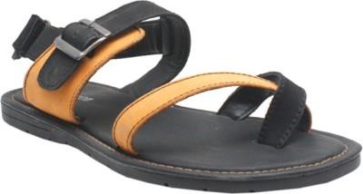 Jack Don Men Black, Yellow Sandals