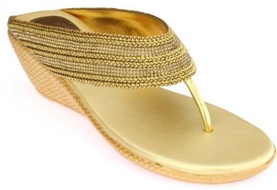 SCARLET Women Gold Wedges