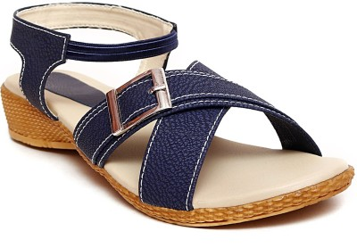 Zohra Collection Women Blue Wedges