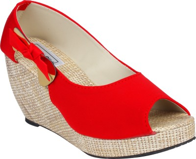 Histeria Eliza Women Red Wedges