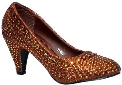 Trilokani Wedding Queen Women Brown Heels
