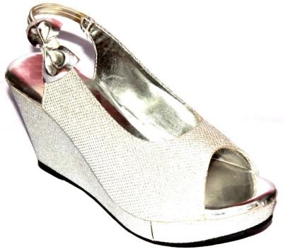 Angeela Girls Silver Sandals