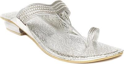 Foot Jewel Low Silver Women Silver Flats