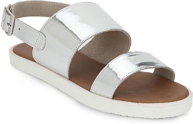 Zebba Celestia Women Silver Flats