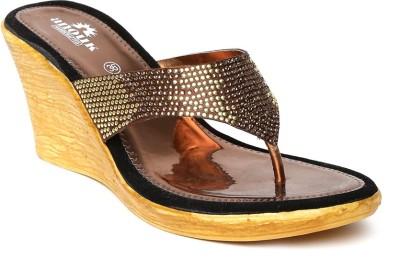 Anouk Women Gold, Brown Wedges