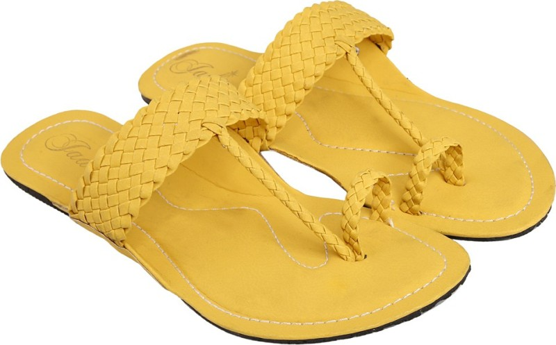 Jade Women Yellow Flats