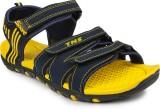 Tennis Men Navy::Yellow Sandals