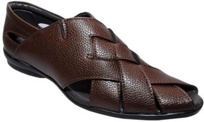 Dot-9 Men Brown Sandals