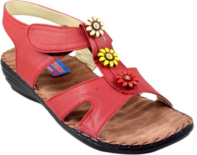 Supreme Leather Women Maroon Heels