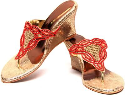 C Comfort Women Gold, Red Wedges