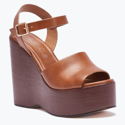 Truffle Collection Women Tan Wedges