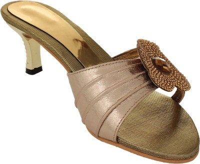 Bare Soles Women Gold Heels
