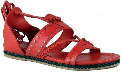 Salt N Pepper Women Red Flats
