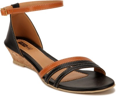 Yepme Women Black, Brown Heels