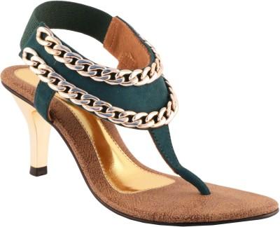 Liza Women Green Heels