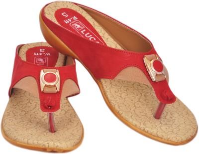 Luca Fashion Women Red Flats