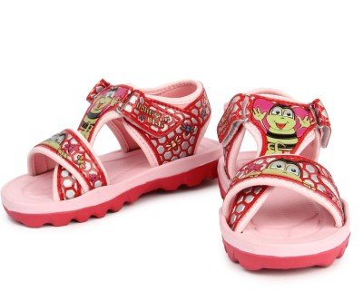 kidsfly Baby Girls, Baby Boys Pink, Red Sandals