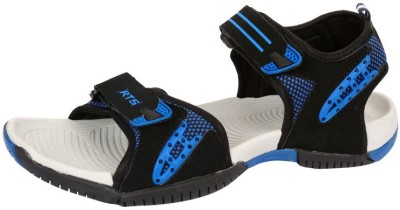 RTS Men Black, Blue Sandals