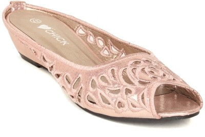 Lyc Women Pink Wedges