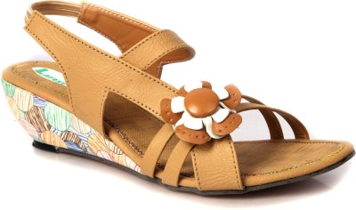 Laila Collections Women Beige Wedges