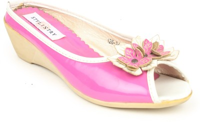 Stylistry Women Pink Wedges