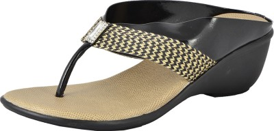Royal Collection Women Black Wedges